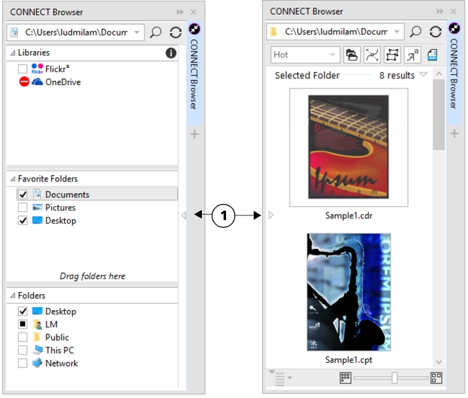 CorelDRAW Help | CONNECT Browser