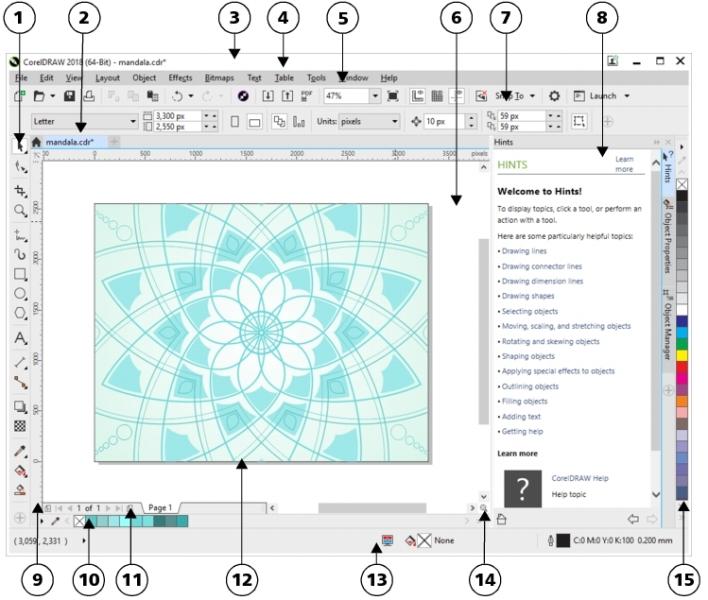 Coreldraw Help Application Window