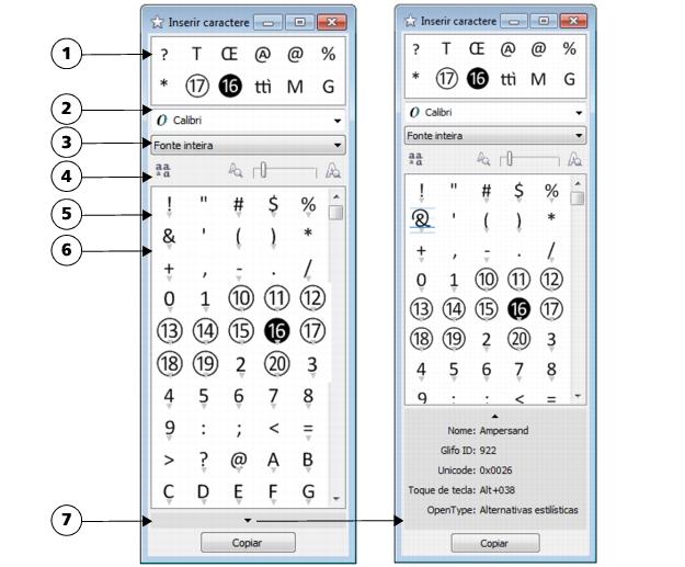 Inserir caractere especial coreldraw x6.4