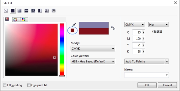 Corel PHOTO-PAINT Help | Choosing colors